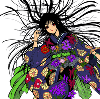 Jigoku Shoujo original colored by rainofphyre