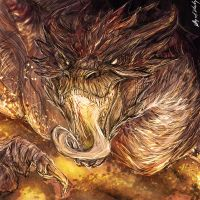 .:Smaug:. by Abz-J-Harding