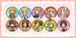 APH - Nyotalia Badges by mandachan