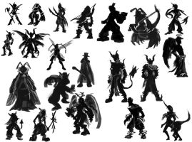 21 Character Silhouettes by TheClintHennesy