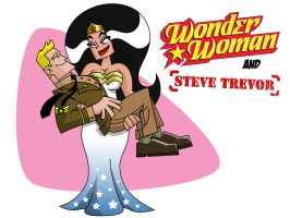 Superhero Wedding Images: Wonder Woman and Steve by Ollywood