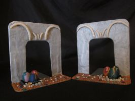 Dragon's Lair Bookends by FreyasKrafting