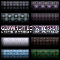 Glowing Tile Patterns 1 by AscendedArts