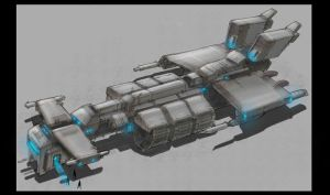Cruiser rendering... by TheUncannyKen