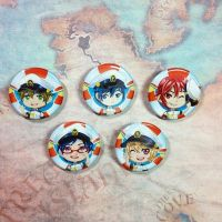 Free! Iwatobi Swim Club buttons! by Valen-LaRae
