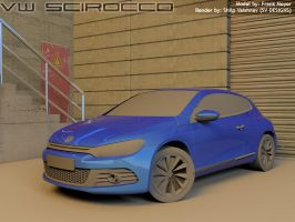 VW Scirocco - Rendering WIP 2 by shilpinator