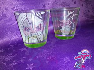 Chrysalis and Discord engraved by angel99percent
