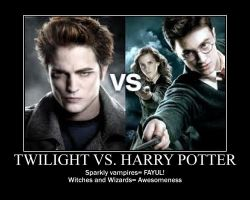 Twlight vs. Harry Potter by FayetheFaerie