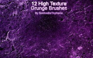 High Texture Grunge Brushes by BordomBeThyName