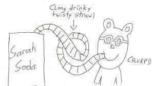 Arthur sipping some Sarah Soda with a long straw by dth1971