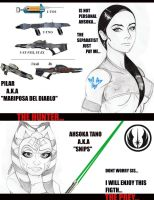 ahsoka vs pilar hunter y pray by DRFABMAN