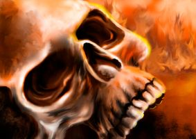 fire skull by blackgabriel