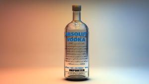 Absolut Vodka Bottle Render by Nieuwus