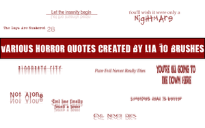 horror text brushes by BlackenCrow