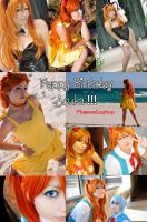 Happy B Day Asuka :: My Cosplays Collage by plu-moon