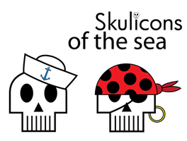 Skulicons of the Sea by JestreNyteMare