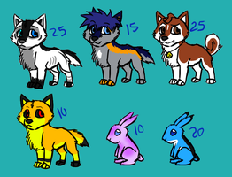 Old designs-OCs POINTgiveaway by DarkChocaholic