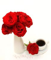 Red Roses Coffee by Rjo0oy