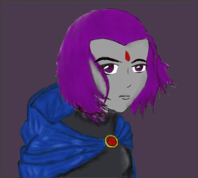 Raven Sketch_Colored by RaeandBB2000