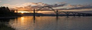 Yaquina Bay Bridge wide by sivousplay