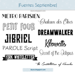 September Fonts (Pack fuentes Septiembre) by DiyVa-Jessica