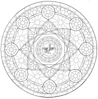 The Rose Window - Inked by SilntAngl5