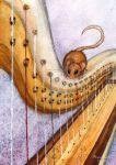 Harp and a Mouse by Amarathimi