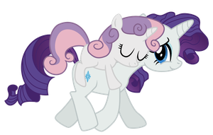 Rarity and Sweetie Belle by ArteenEsben