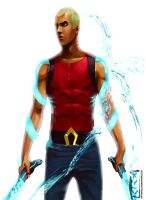 Young Justice Aqua lad by HaitianHallow