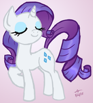 Rarity Posing by HowlsInTheDistance
