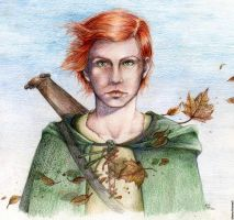kvothe colored pencil by MartAiConan