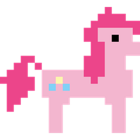 Pinkie Pie Hub 8 bit promo vector by Skeptic-Mousey