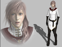 FF13 Lightning with DA2 Orlesian Light Armor by Nicco-and-Jake