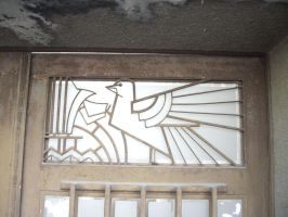 Art Deco entrance door - detail by lumilanous