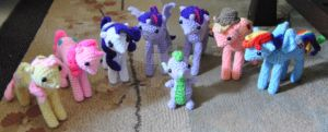 My Little Pony Inspired Mane 6 and Spike Amigurumi by ChibiSayuriEtsy
