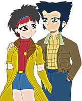Wolverine and Jubilee by lady-warrior