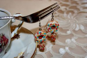 Donut Eclair Earrings by SpankTB