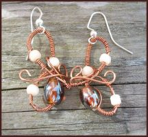 Sands of a Fairytale Earrings by balthasarcraft