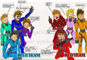 Red VS Blue .:fan art:. by MidNight-Vixen