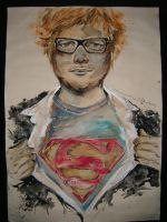 Abstract Ed Sheeran by OrhideArt