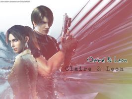 Claire-x-Leon wallpaper by Claire-Wesker1