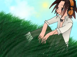 Asakura yoh- Lazy day by 3ghosts
