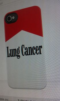 Lung Cancer iphone case by kirkfinger