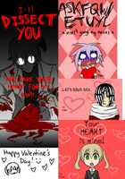 Soul Eater Valentine's Day Cards by Z-Raid