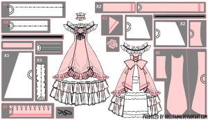 Ciel Phantomhive Ballgown Cosplay Pattern Draft by Hollitaima