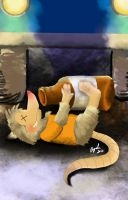 Drunk Possum by Sombraluz-Images