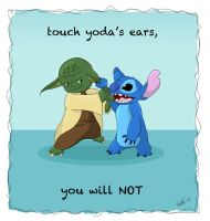 annoyed, yoda is. by Autumnstar17