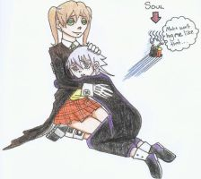 Maka and Crona Hug by HitanTenshi