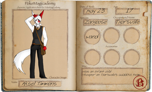 PM App: Aksel Timmons by DasherDoodle