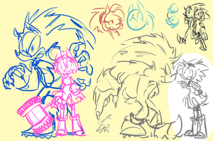 AU Sonic and Amy by SuperSkyseeker